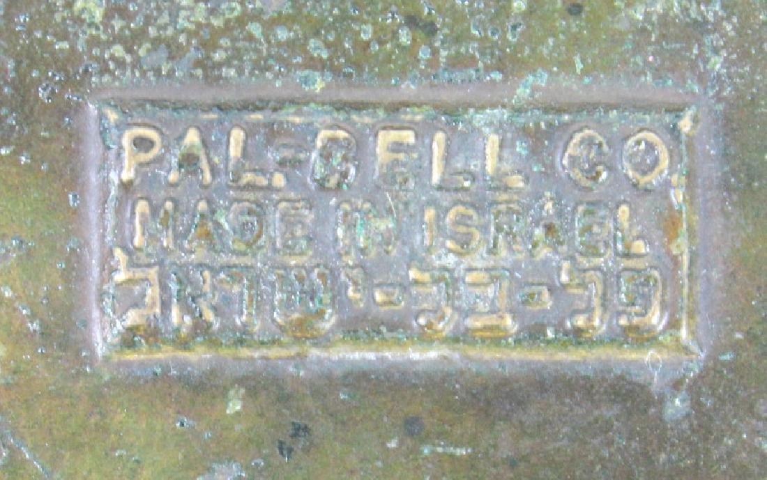 VINTAGE PAL-BELL BRONZE METAL ASHTRAY, ISRAEL - 3