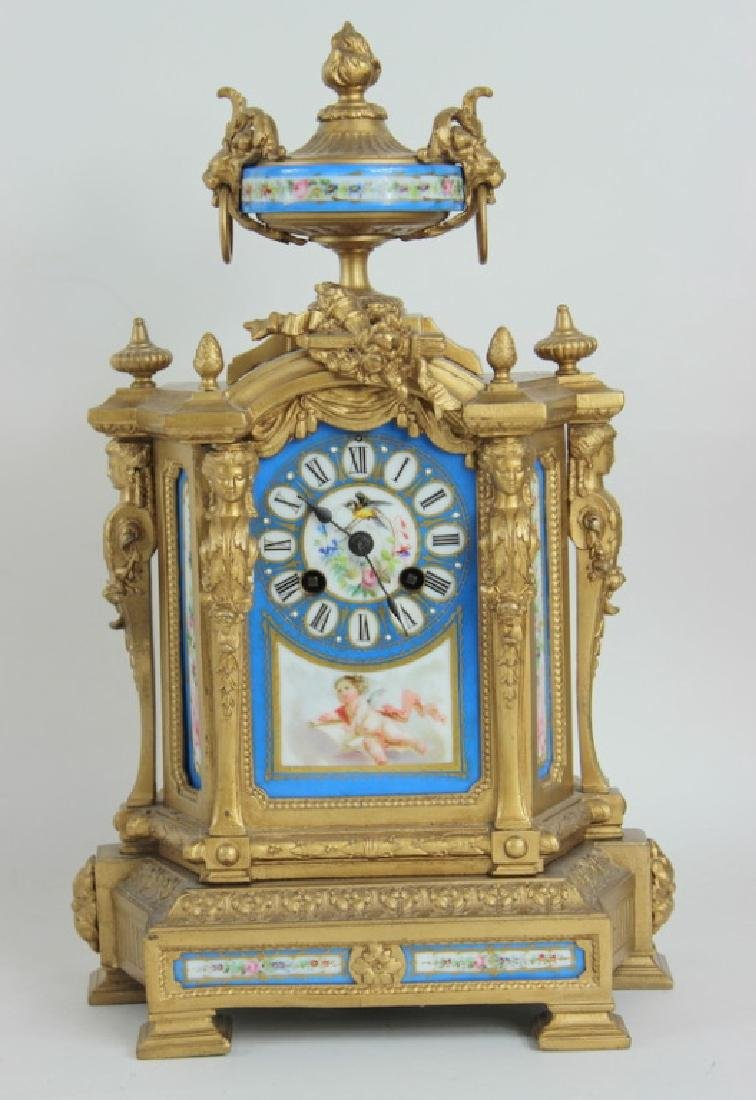 FRENCH STYLE PORCELAIN INSERT CLOCK
