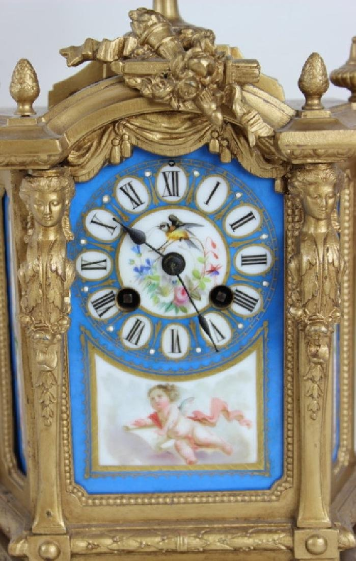 FRENCH STYLE PORCELAIN INSERT CLOCK - 2
