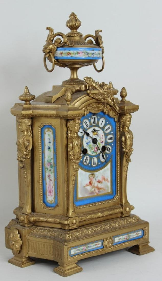FRENCH STYLE PORCELAIN INSERT CLOCK - 3