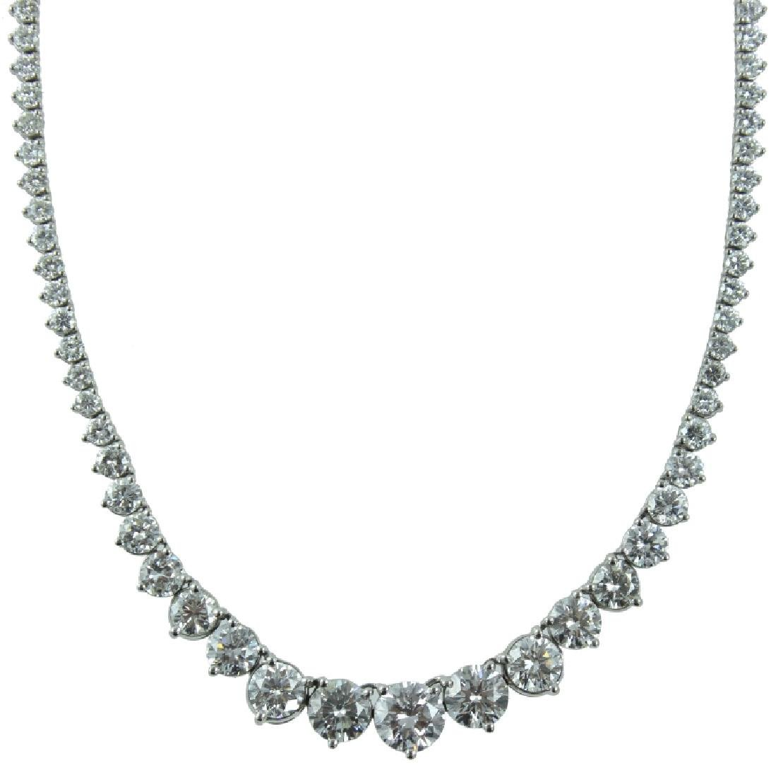 IMPRESSIVE ESTATE 25.00 CARAT DIAMOND CHOKER