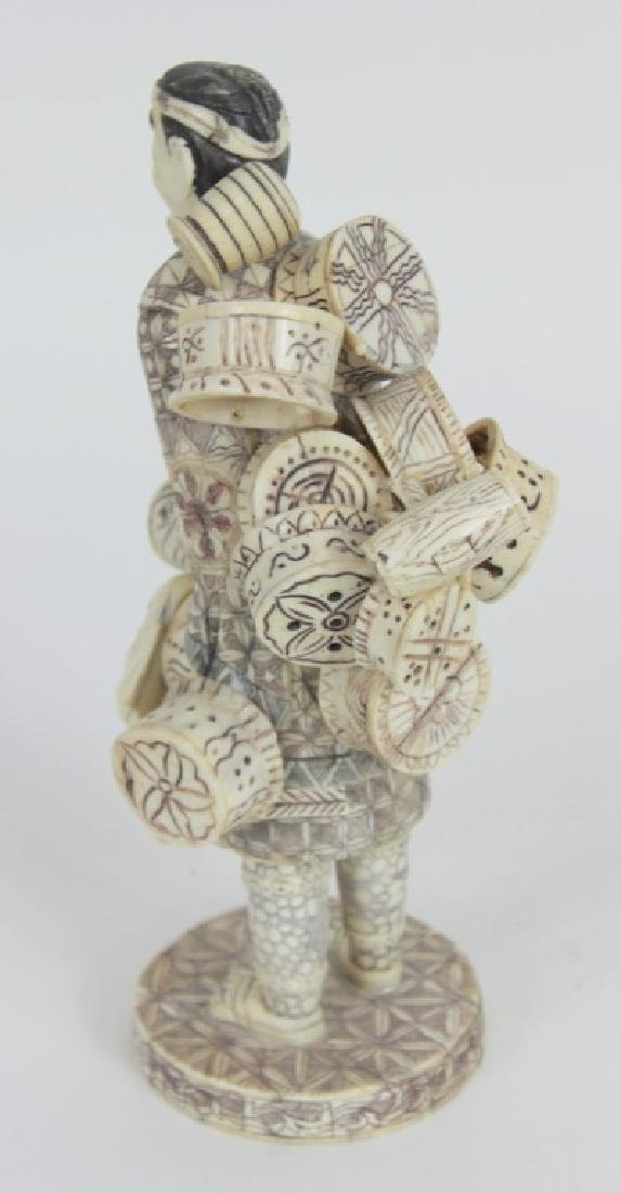 CHINESE CARVED BONE IMMORTAL - 2
