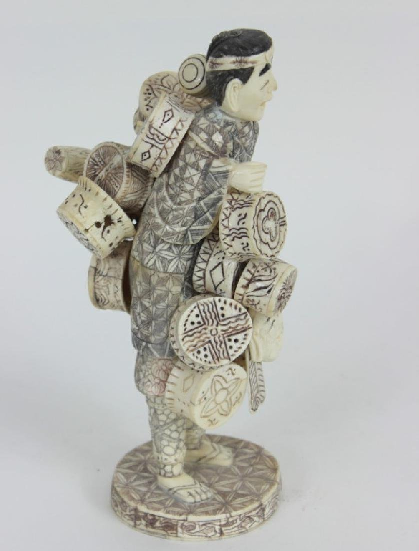 CHINESE CARVED BONE IMMORTAL - 4