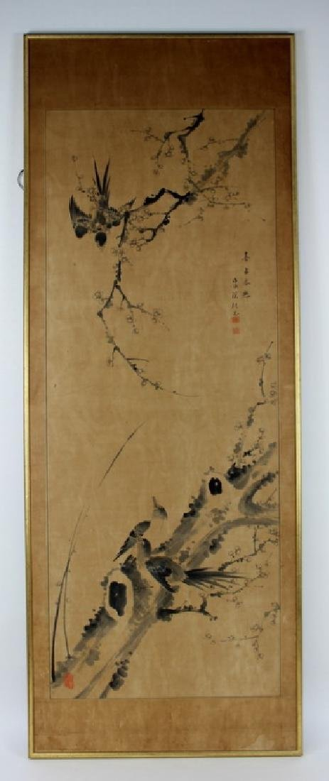 "VINTAGE CHINESE PAINTING ""BIRDS NEST"" - 3"