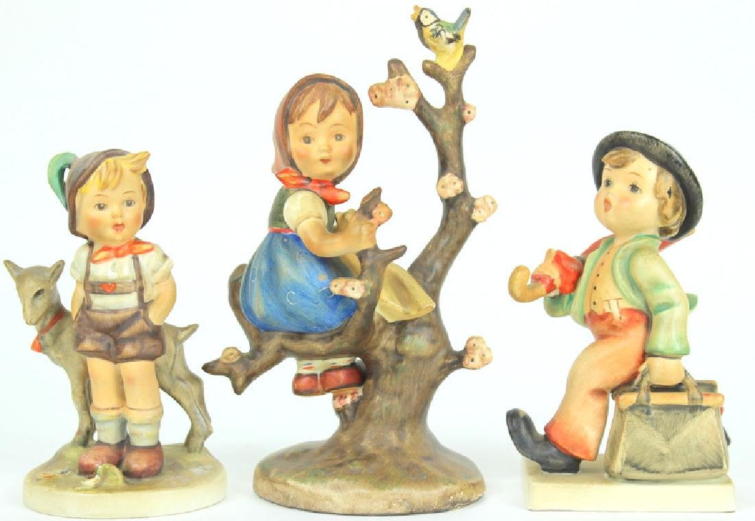 3) THREE HUMMEL FIGURINES