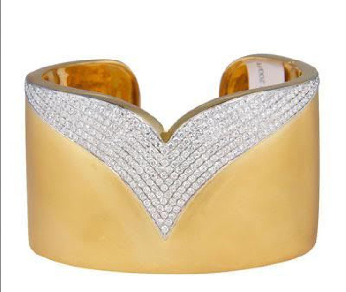 LARGE DIAMOND CUFF BRACELET