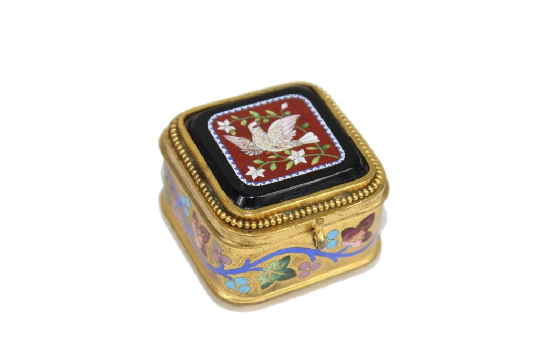 UNSIGNED MICRO MOSAIC TRINKET BOX