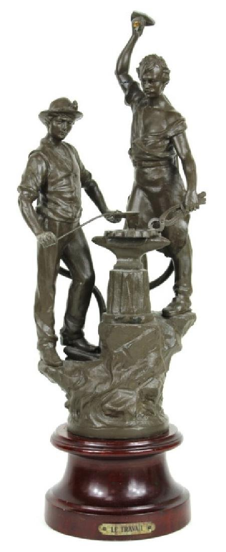 "FRENCH METAL LE TRAVAIL ""BLACKSMITH"" SCULPTURE"