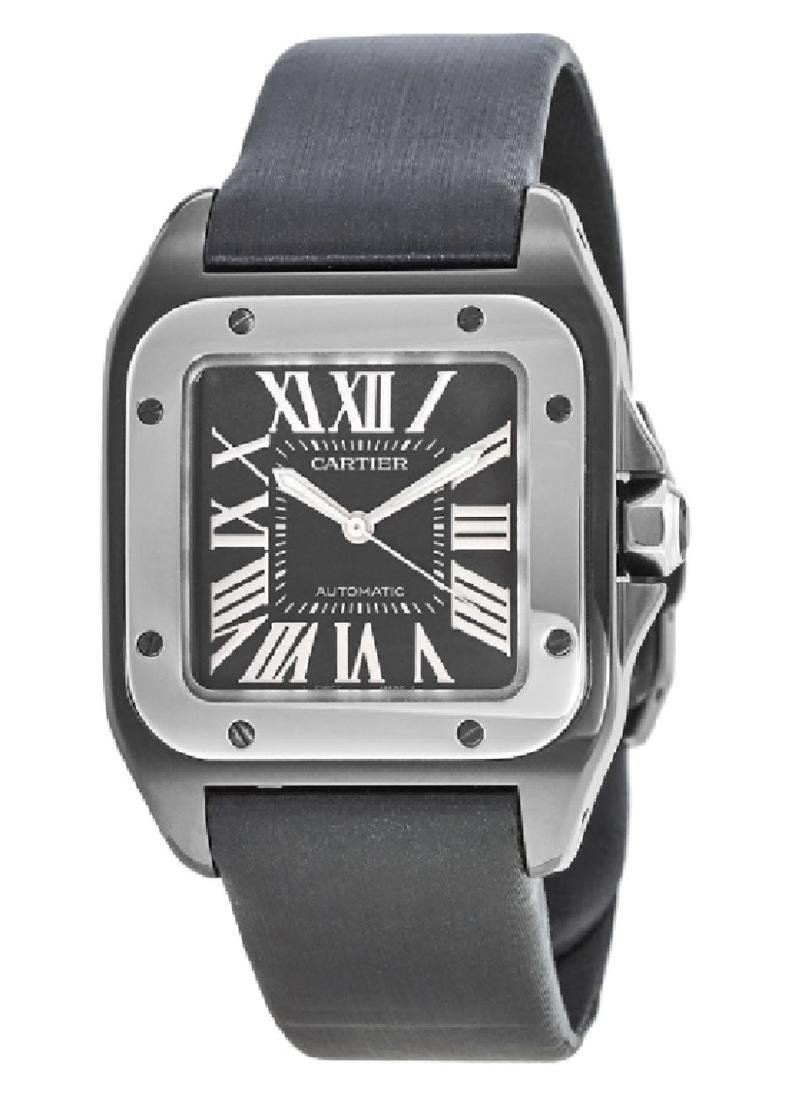 CARTIER SANTOS 100 AUTOMATIC CARBON WATCH