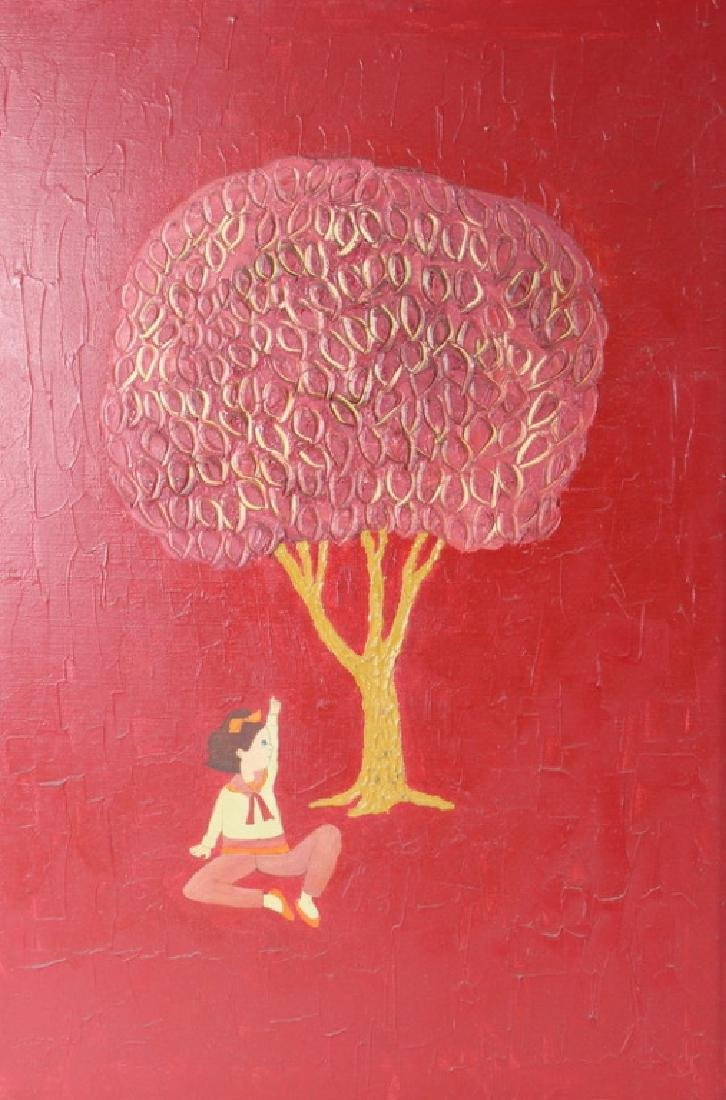ARTIST UNKNOWN, ASIAN GIRL UNDERTREE