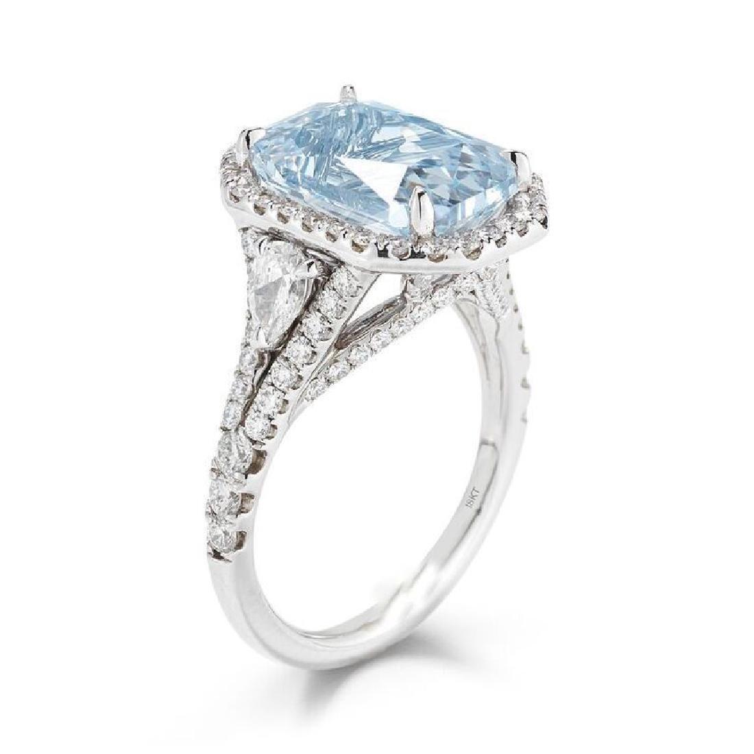 C.DUNAIGRE CERTIFIED ICY BLUE SAPPHIRE RING