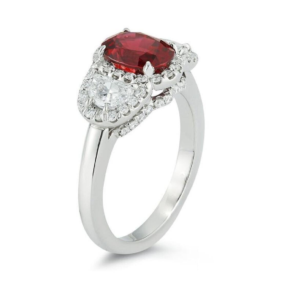 PLATINUM RUBY & DIAMOND RING