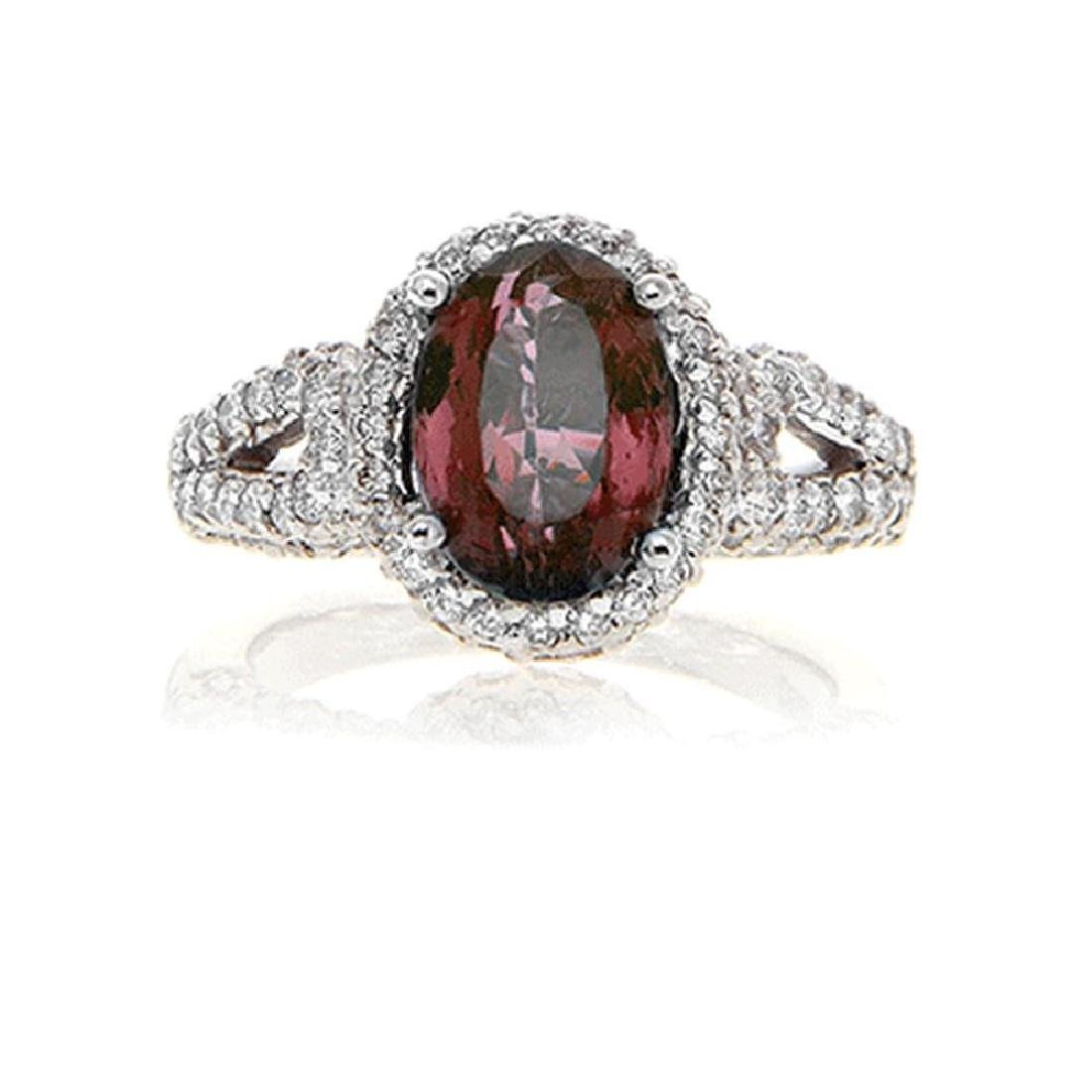 C.DUNAIGRE ALEXANDRITE RING WITH DIAMOND