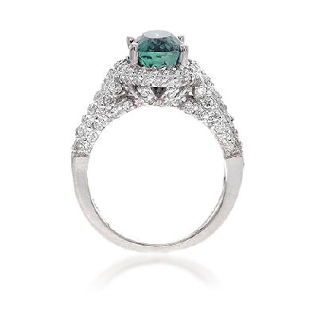 C.DUNAIGRE ALEXANDRITE RING WITH DIAMOND - 2