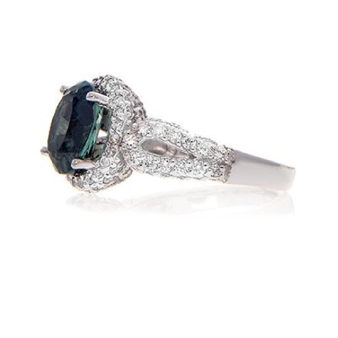 C.DUNAIGRE ALEXANDRITE RING WITH DIAMOND - 3