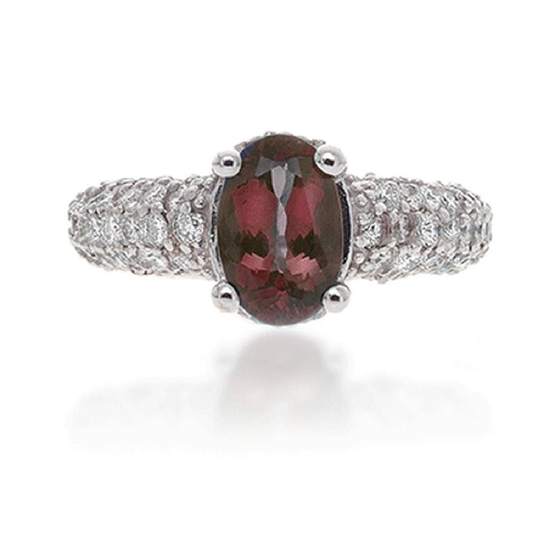 C.DUNAIGRE, UGL ALEXANDRITE AND DIAMOND RING
