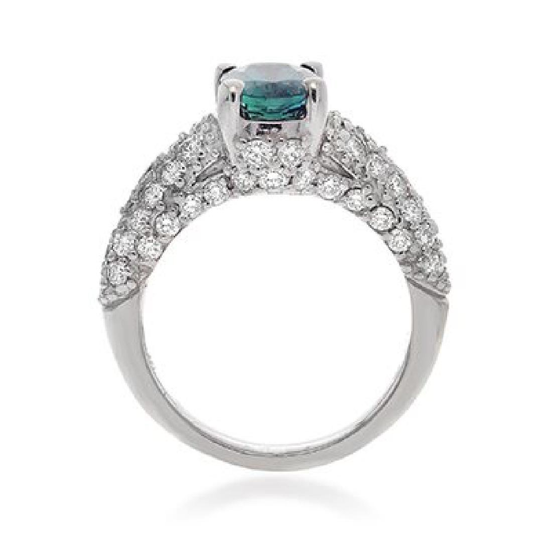C.DUNAIGRE, UGL ALEXANDRITE AND DIAMOND RING - 2