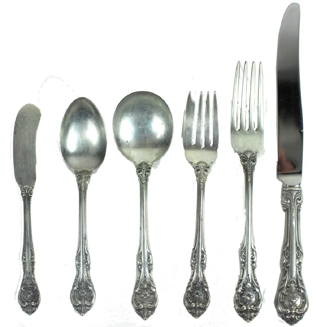 'KING EDWARD FLORAL' GORHAM STERLING FLATWARE SET