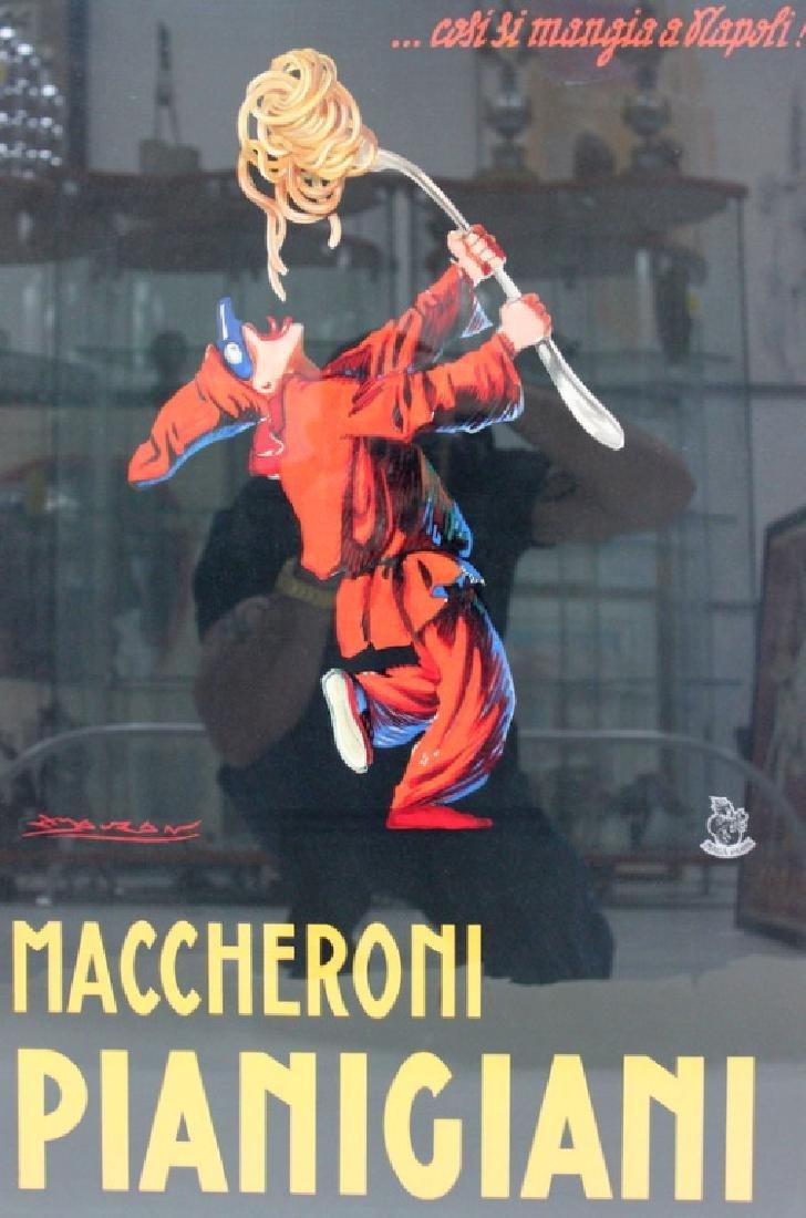 VINTAGE, ITALIAN 'MACCHERONI PIANIGIANA ' POSTER