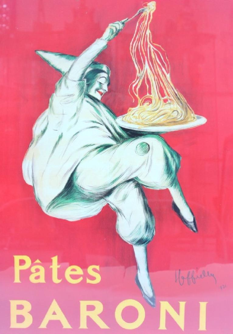 VINTAGE, 'PATES BARONI' POSTER