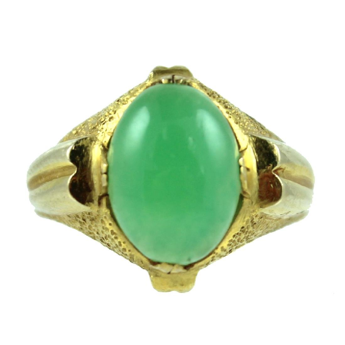 14 KARAT CHRYSOPRASE RING