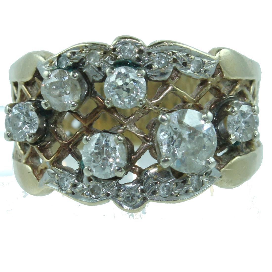 14K DIAMOND RING. APPROX. 1.50 CARAT
