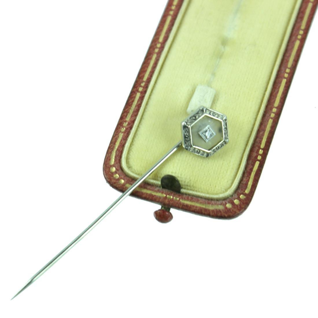 14 KARAT DIAMOND TIE PIN