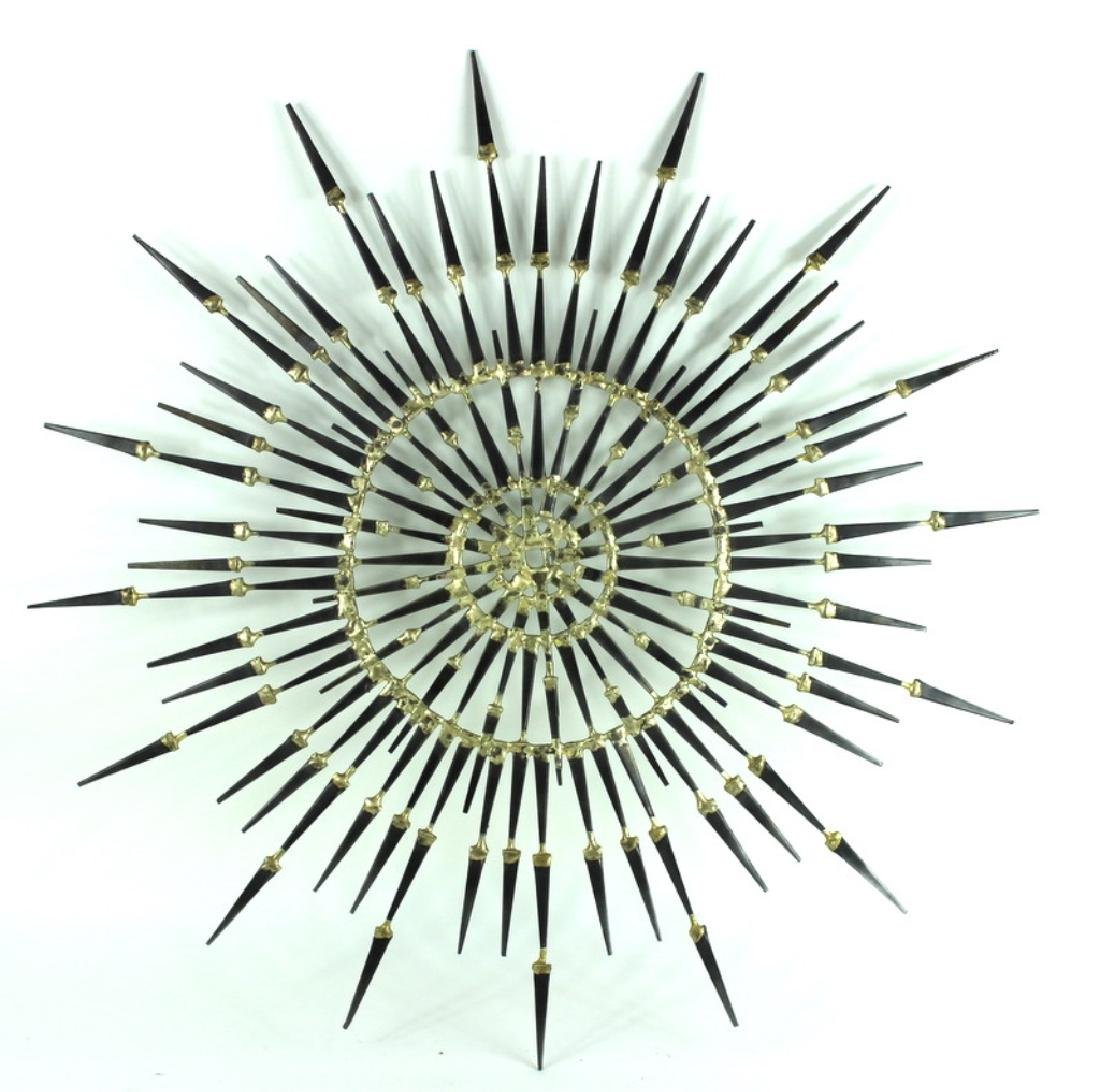 MODERN STARBURST METAL SCULPTURE