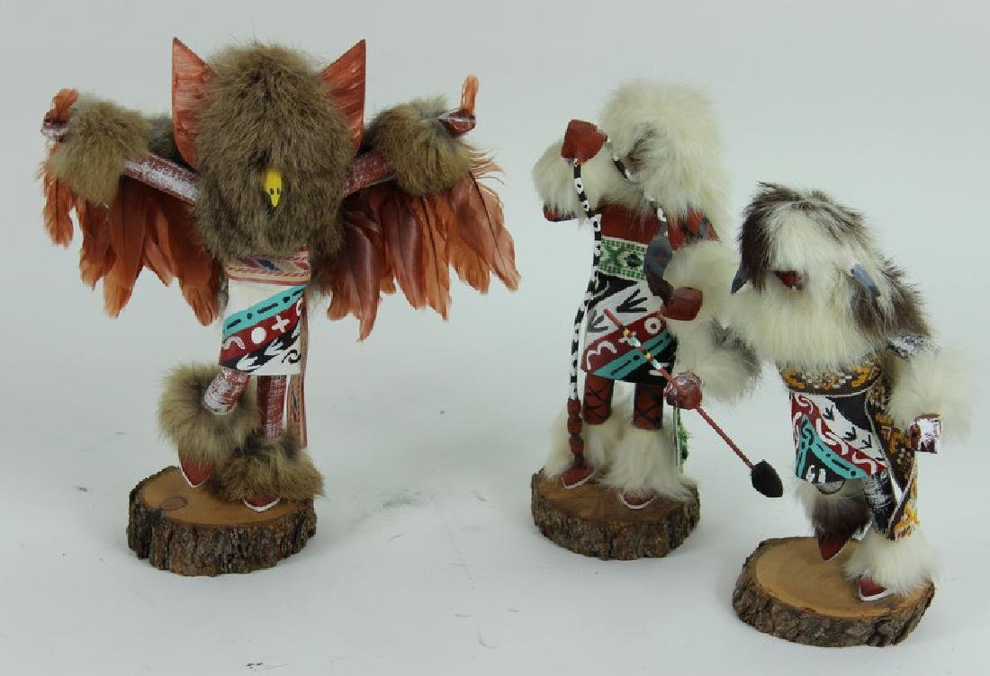 (3) THREE KACHINA DOLLS