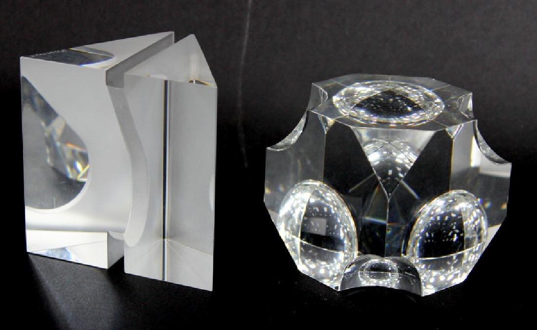 MODERN ART GLASS PAPERWEIGHT.HEAVY