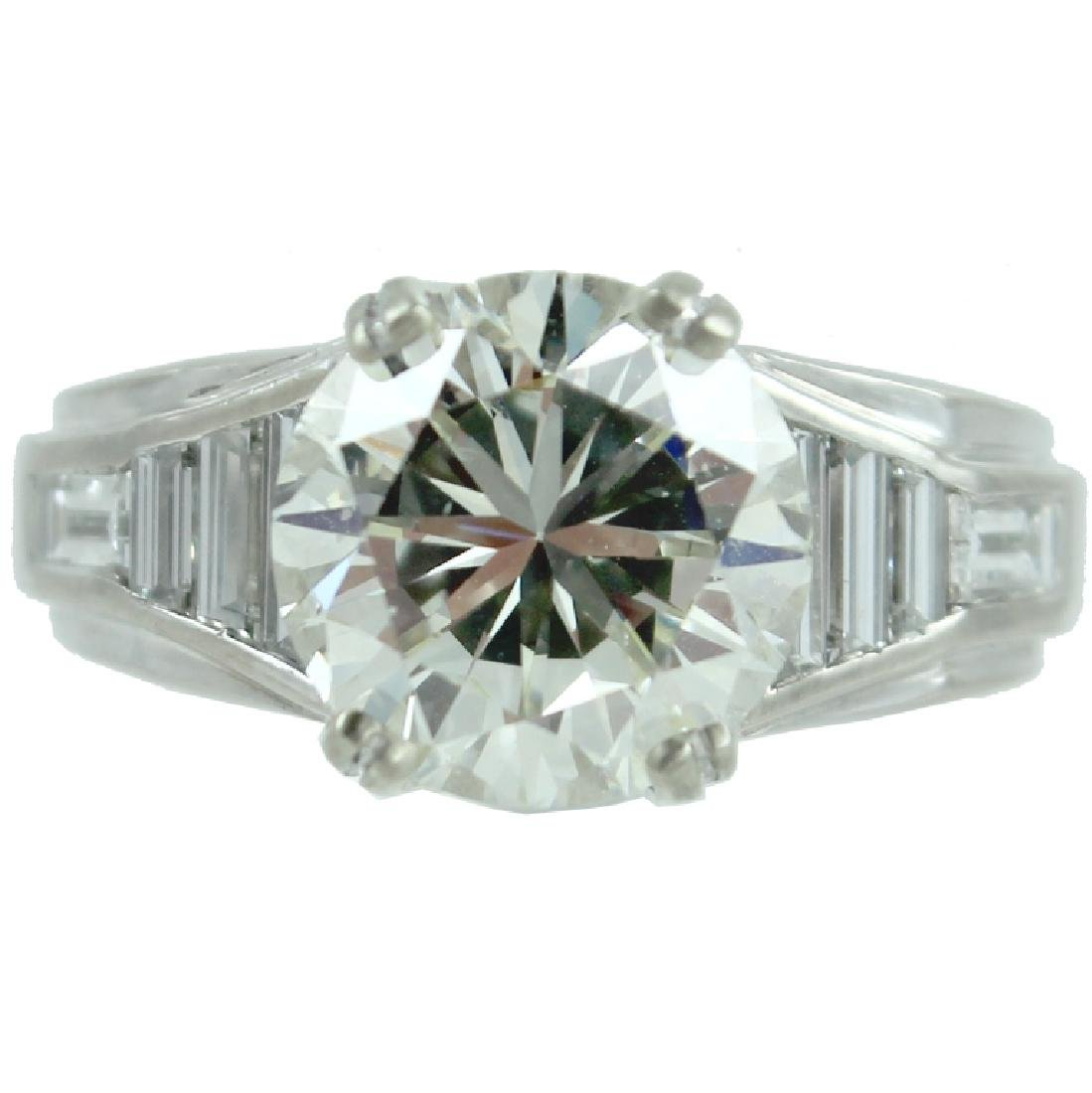 GIA CERTIFIED, 5.03 TCW ENGAGEMENT RING