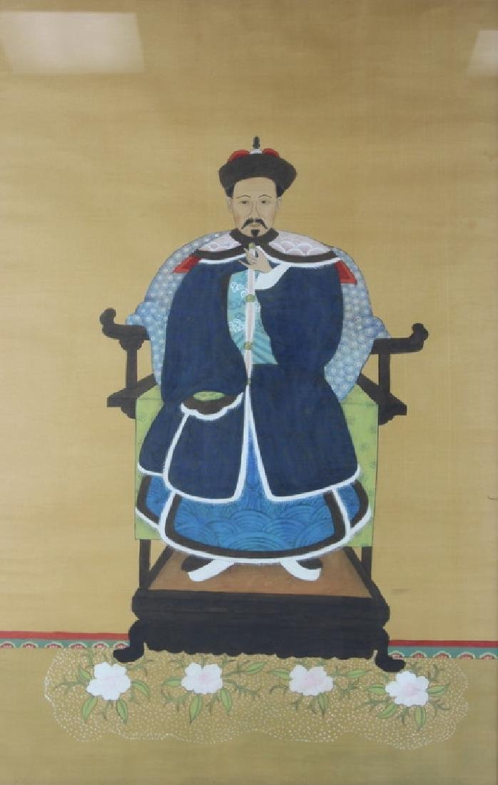 (2) PAIR OF CHINESE PAINTING ON SILK.
