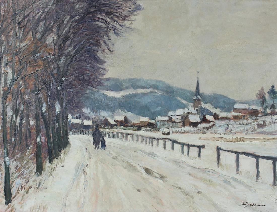 ARTIST UNKNWON, SIGNED, WINTER SCENE, OIL
