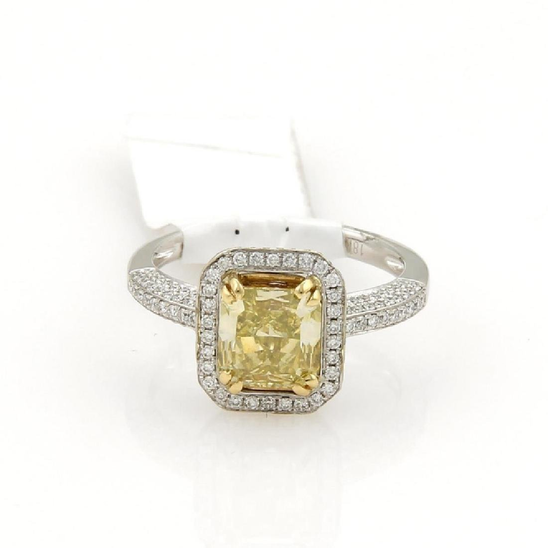 GIA CERTIFIED, 2.41 TCW RADIANT ENGAGEMENT RING