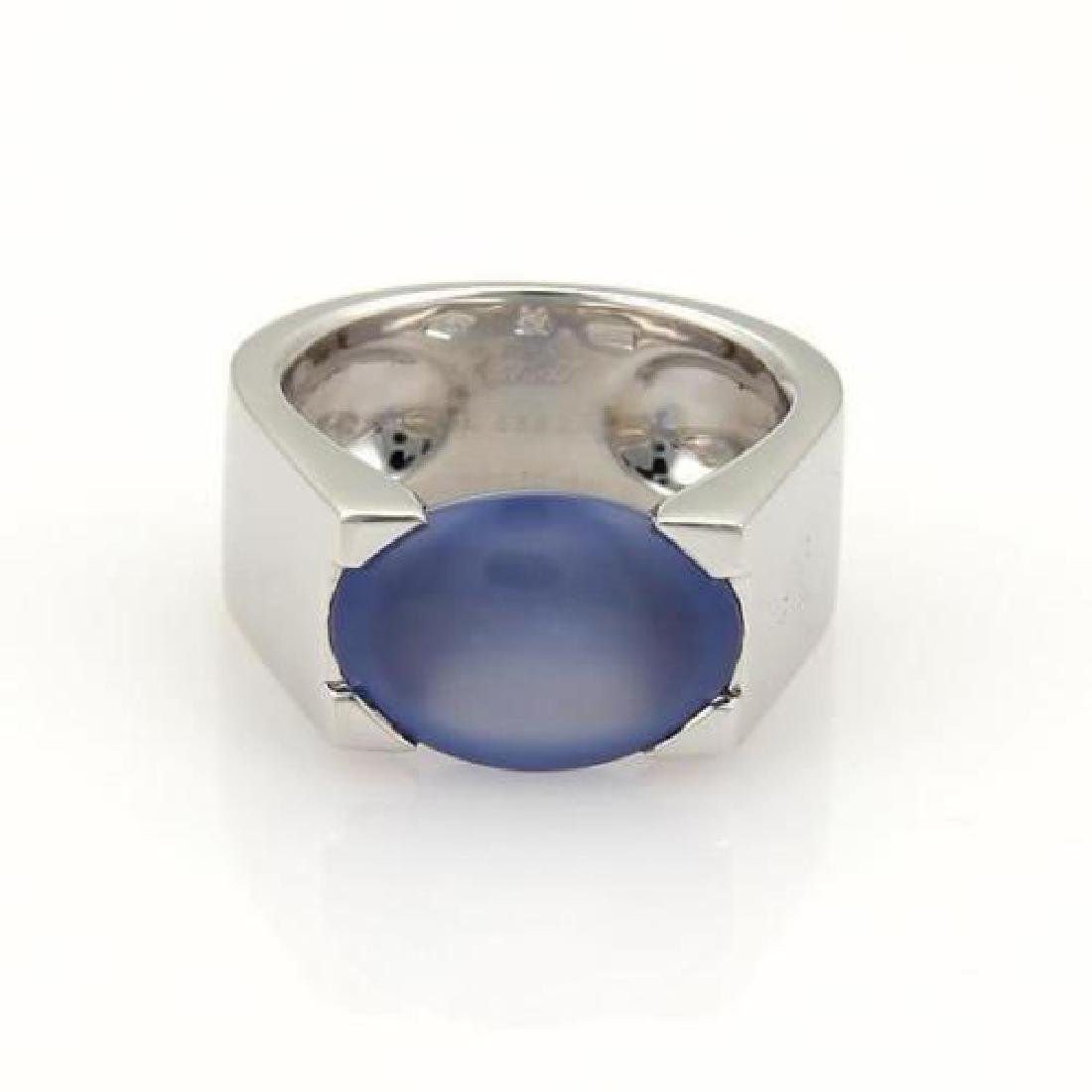 CARTIER CHALCEDONY 18K GOLD RING
