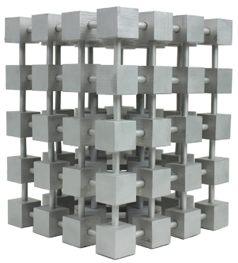 2) TWO STACKABLE CUBE FORM SCULPTURES