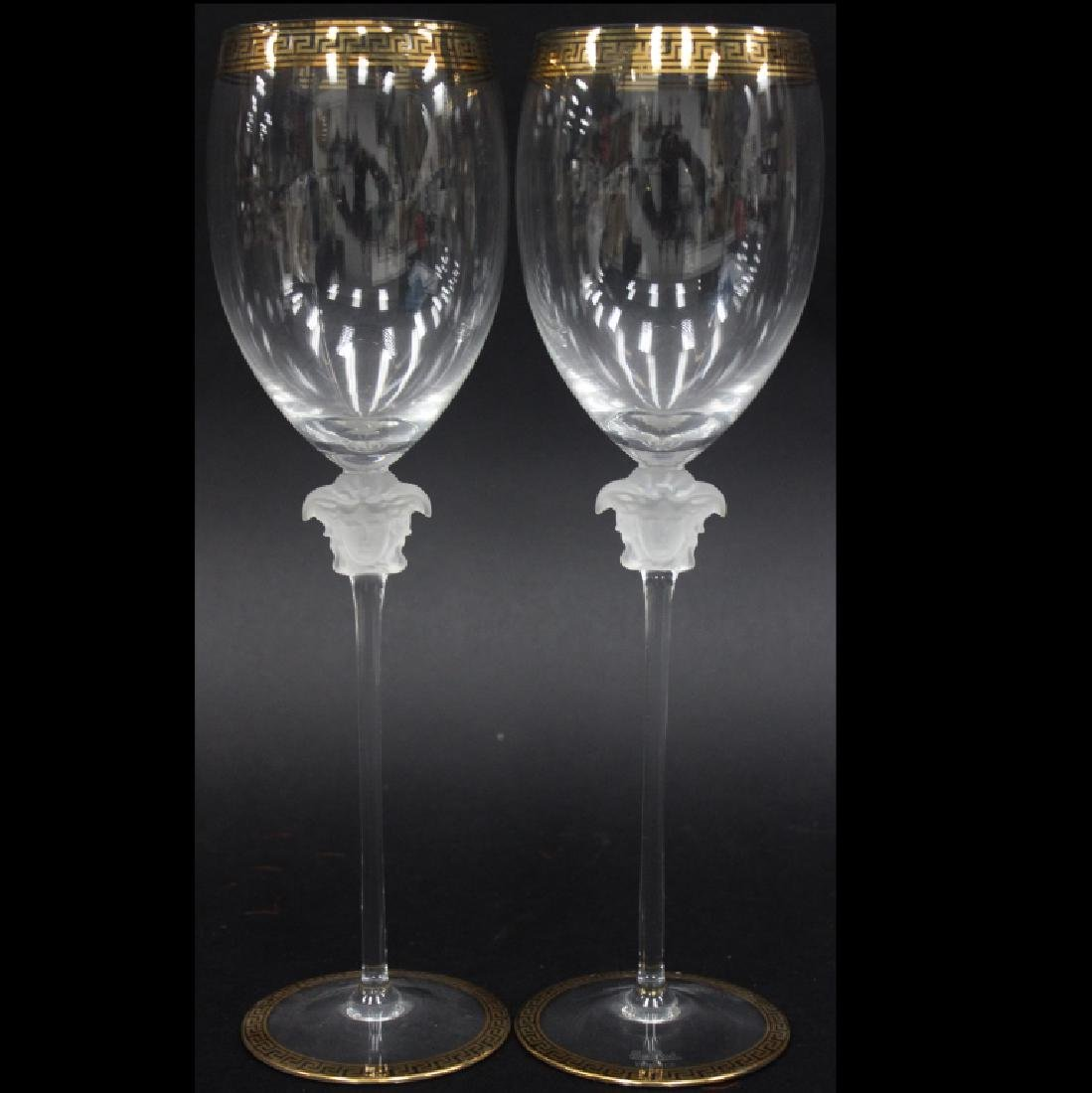(2) ROSENTHAL VERSACE TALL WINE GLASSES