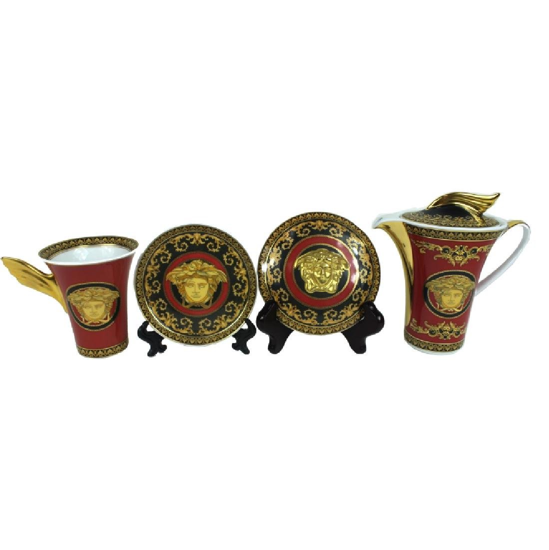 (4) FOUR ROSENTHAL VERSACE MUDUSA SERVING ITEMS