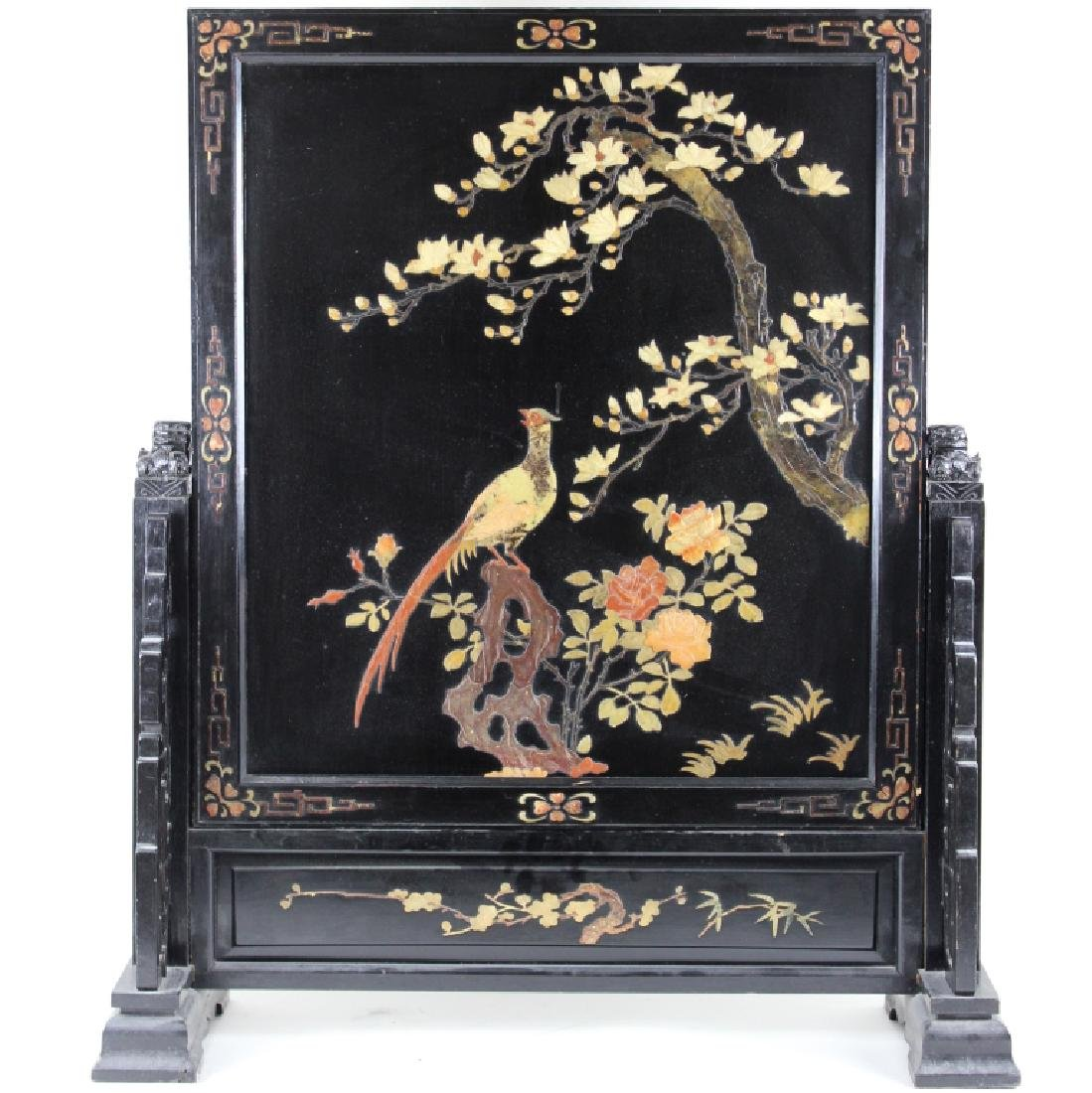 LARGE CHINESE FIRE SCREEN PLAQUE