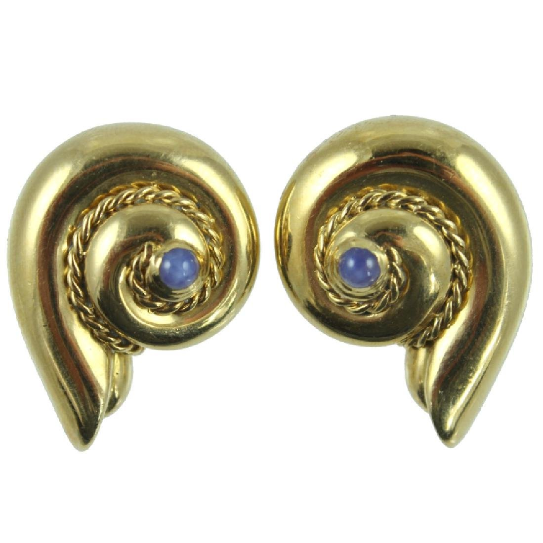 18K VALENTINE ITALIAN GOLD EARRINGS