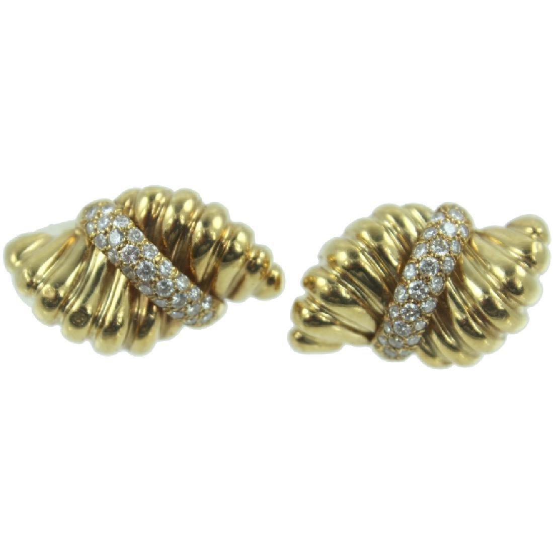 18K DIAMOND DESIGNER EARRINGS
