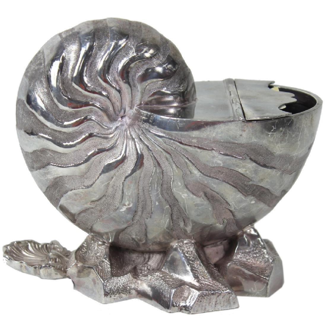 English, Nautilus Shell Spoon Warmer, C.1870
