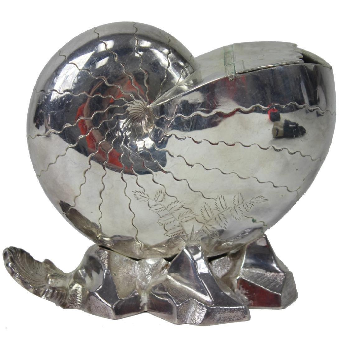 Victorian Era Nautilus Shell Spoon Warmer