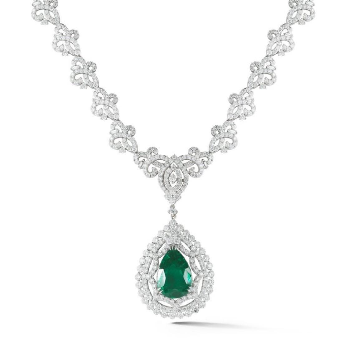 C. Dunaigre, Emerald and Diamond Necklace.