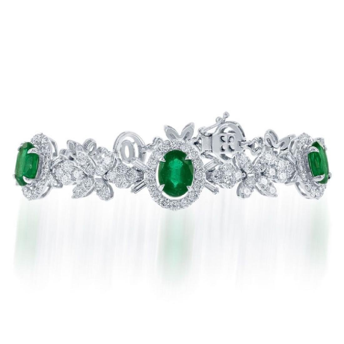 Emerald And Diamond Bracelet.