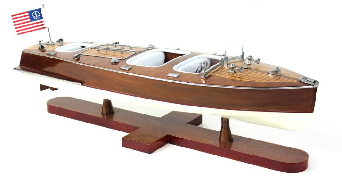 Very Fine Wooden Chris Craft Model Boat.