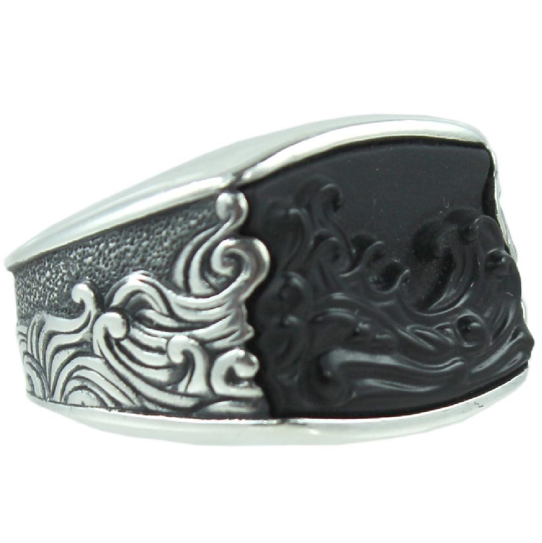 David Yurman Mens Carved Onyx Ring.