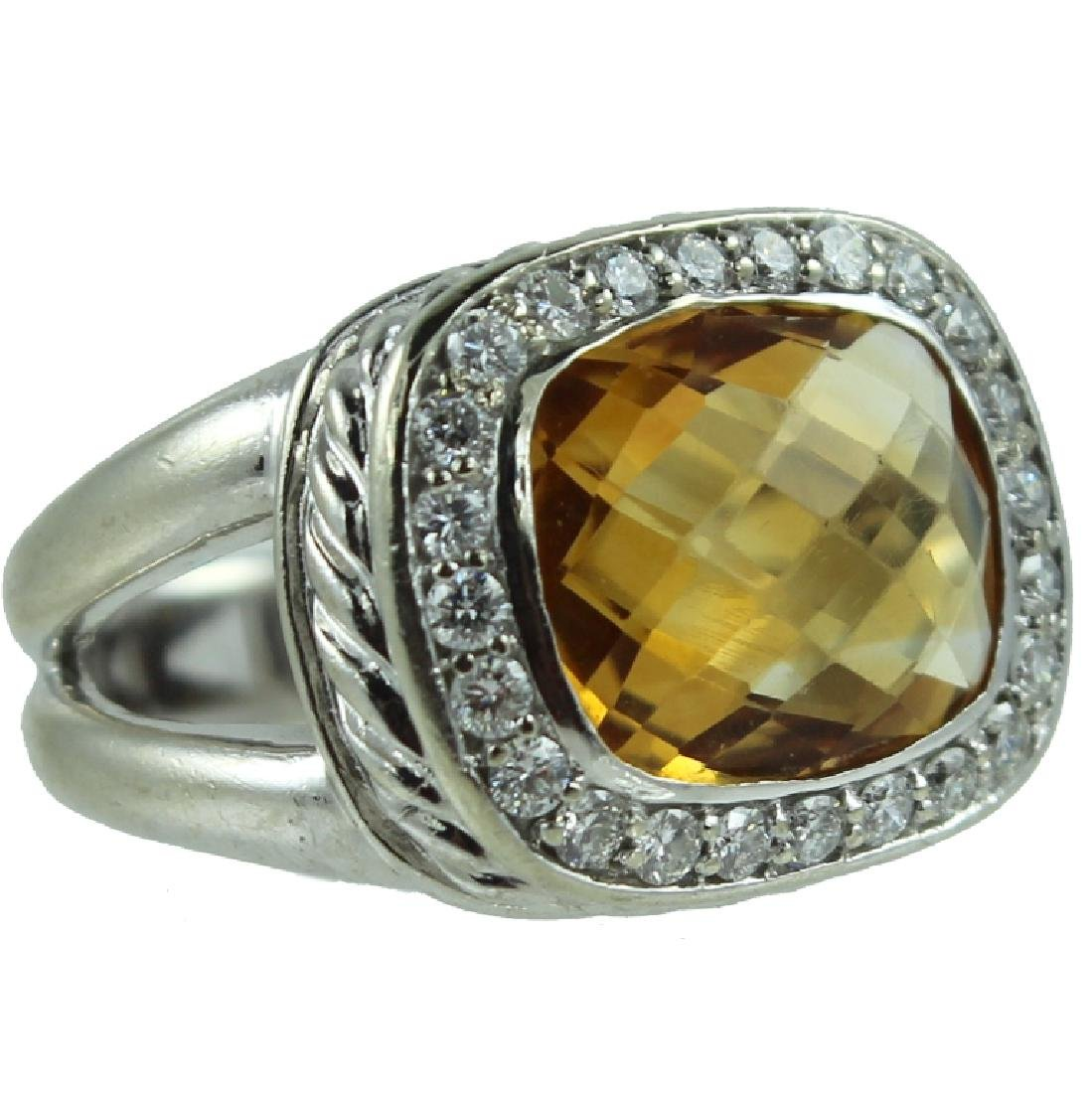 14K Citrine & Diamond Ring.