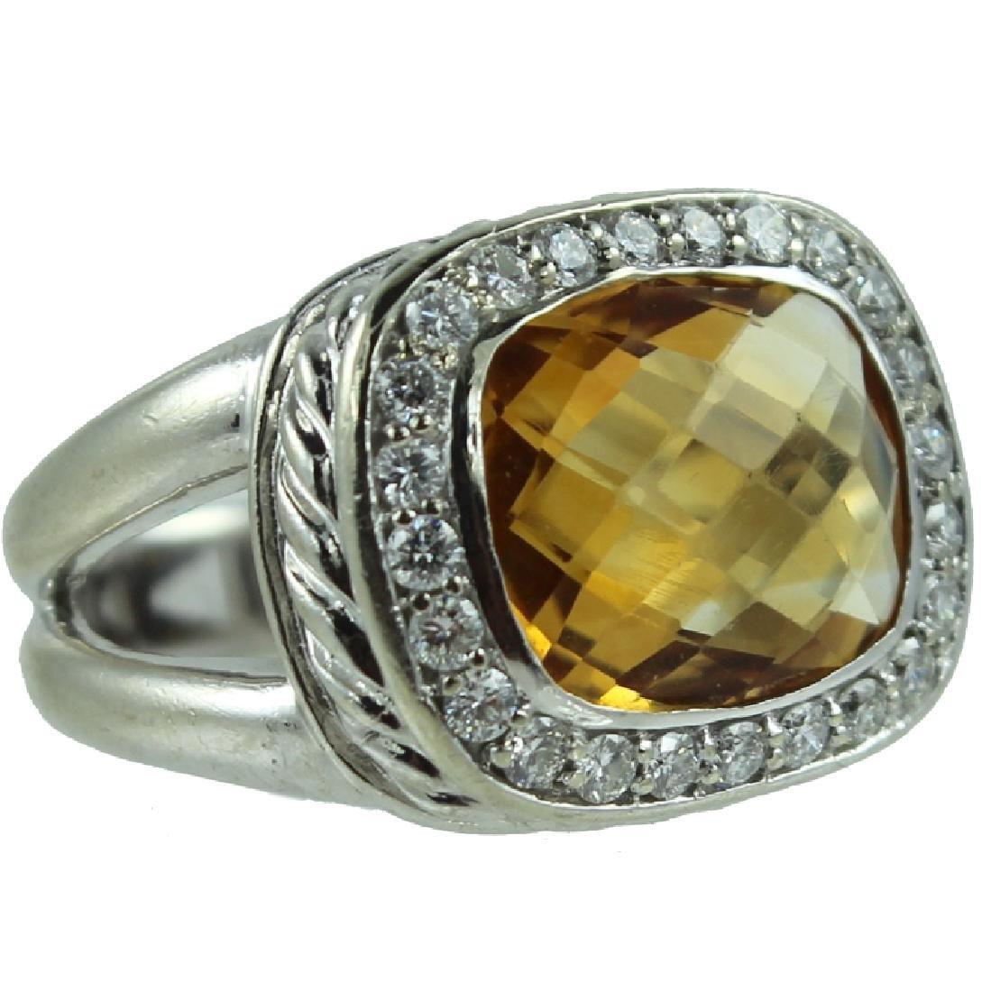 14K Citrine & Diamond Ring.
