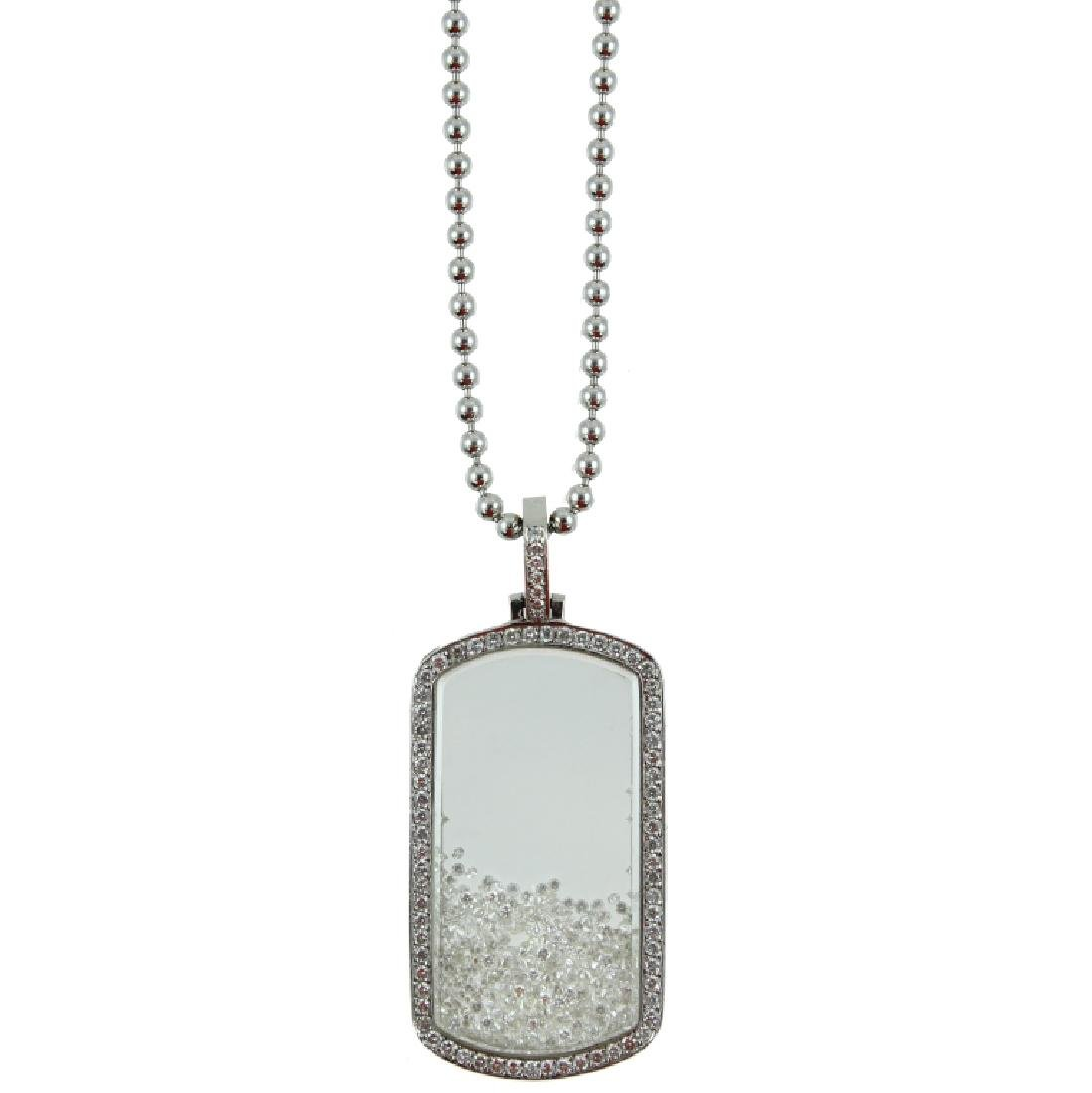 Men's 5.00 carat Diamond Dog Tag